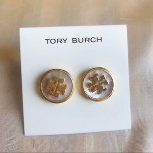 Tory Burch button style logo Earrings